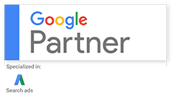 Google Partner Badge for Websmart Design