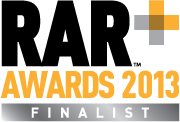 Hoo-RAR … we're shortlisted for a RAR award!